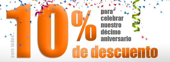10% de descuento en todos los proyectos por nuestro 10º Aniversario_10 años