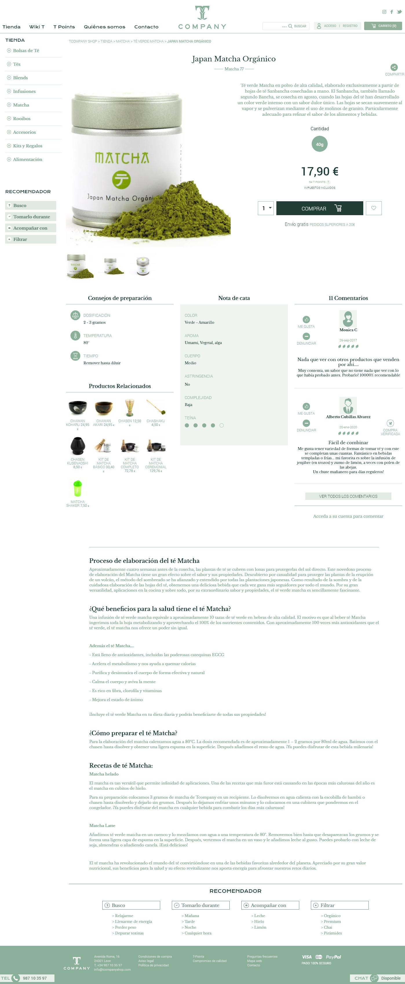 TCompany Ficha de producto