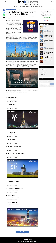 Página de lista de Top10Listas