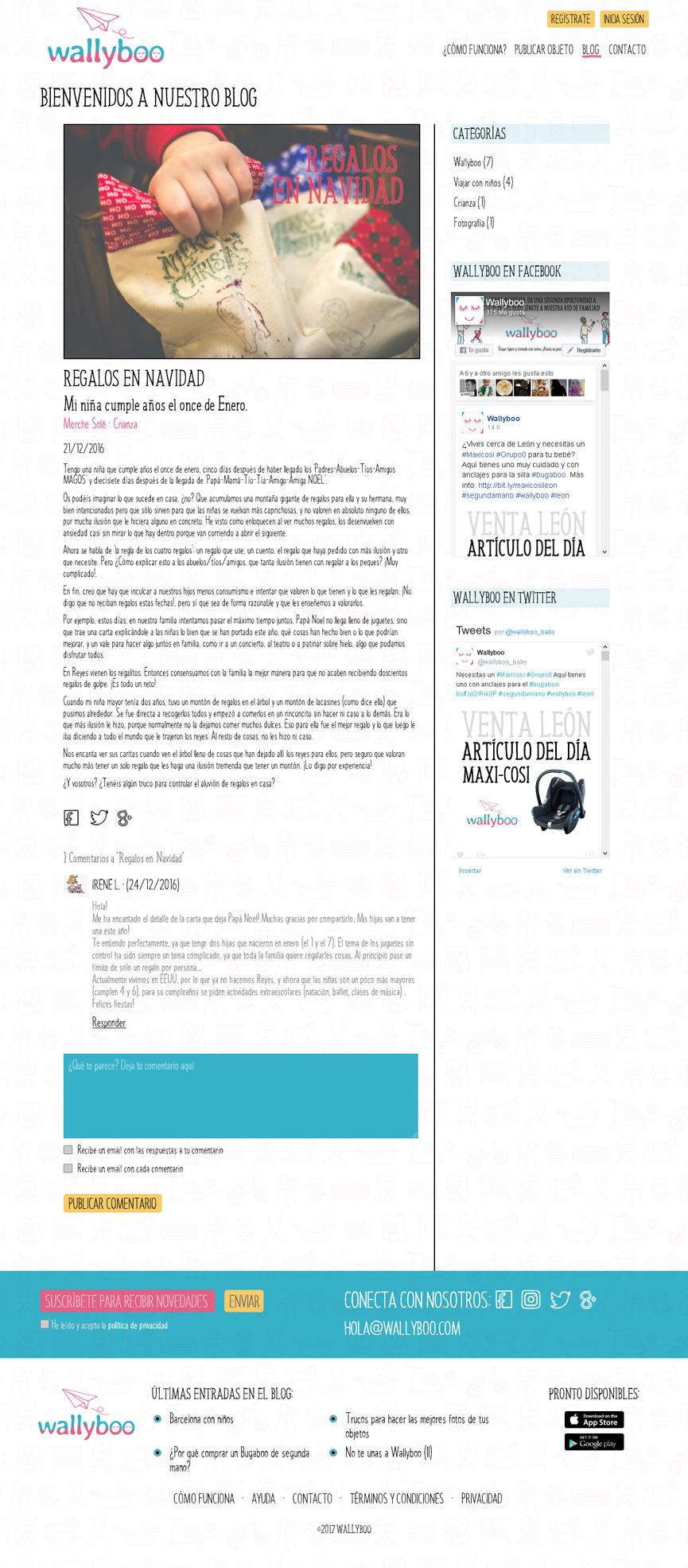 Blog de wallyboo. Plataforma para el alquiler y venta de objetos de segunda mano de niños y bebés